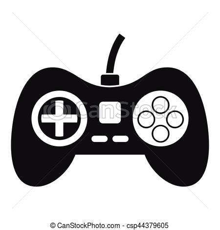 450x470 Video Game Console Controller Icon, Simple Style. Video Game