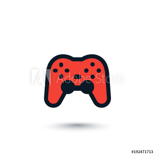 500x500 Gamepad, Game Controller Vector Icon On White
