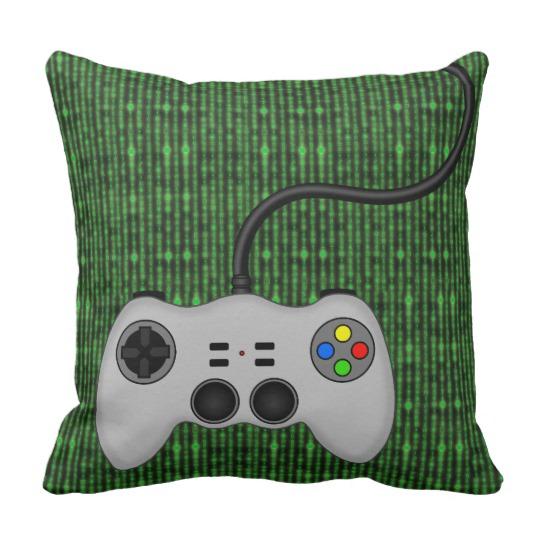 540x540 Cool Video Game Controller Vector In Grey Throw Pillow