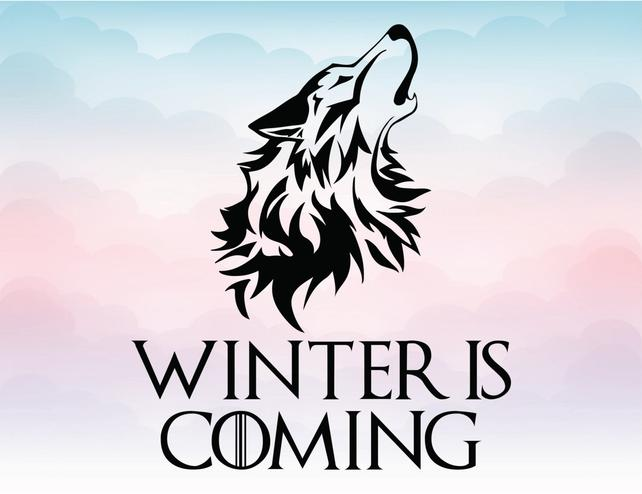 642x494 Game Of Thrones Winter Is Coming Wolf Head Vector Logo For Etsy