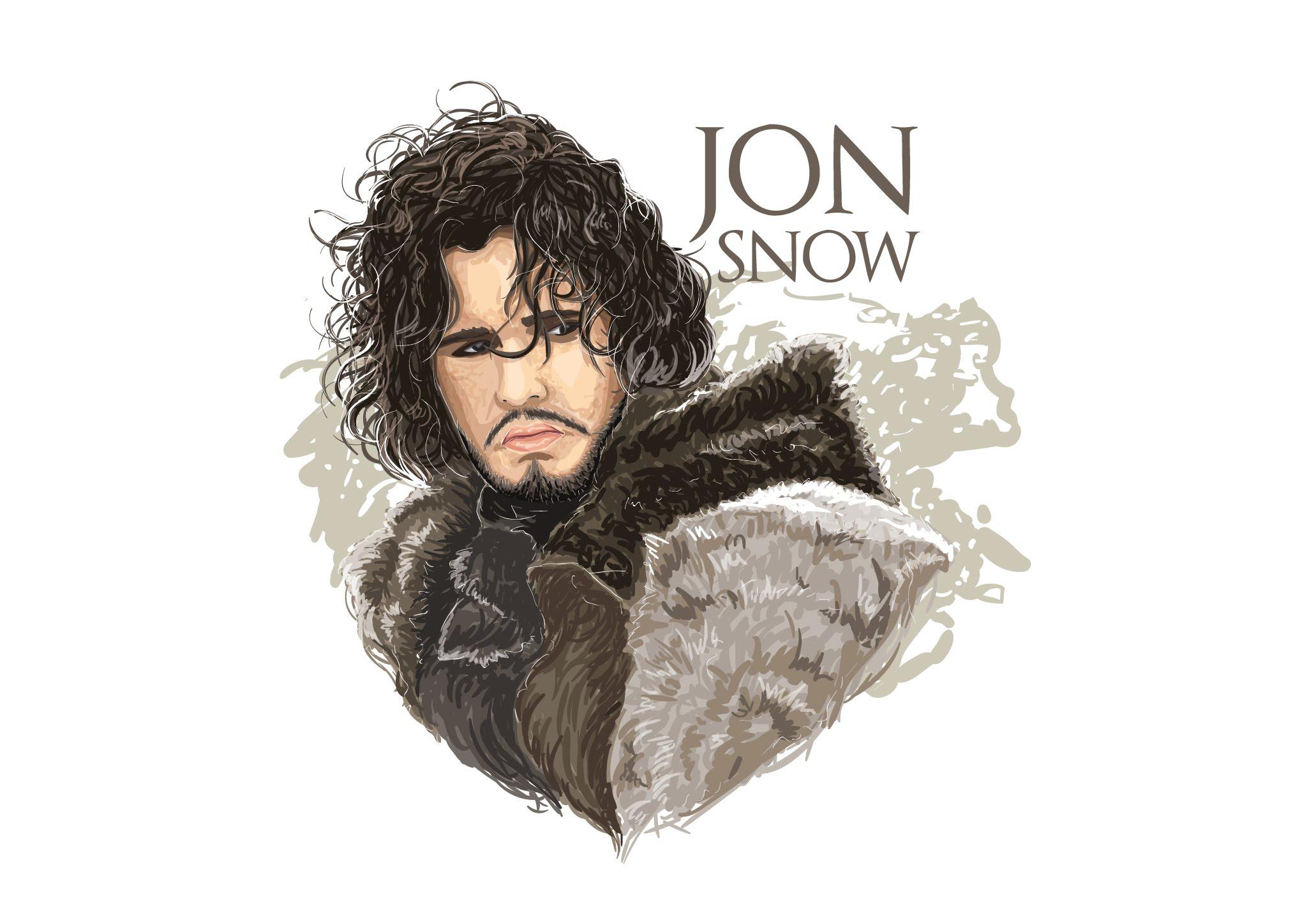 2062x1441 Vector Tutorial Jon Snow Game Of Thrones Illustration