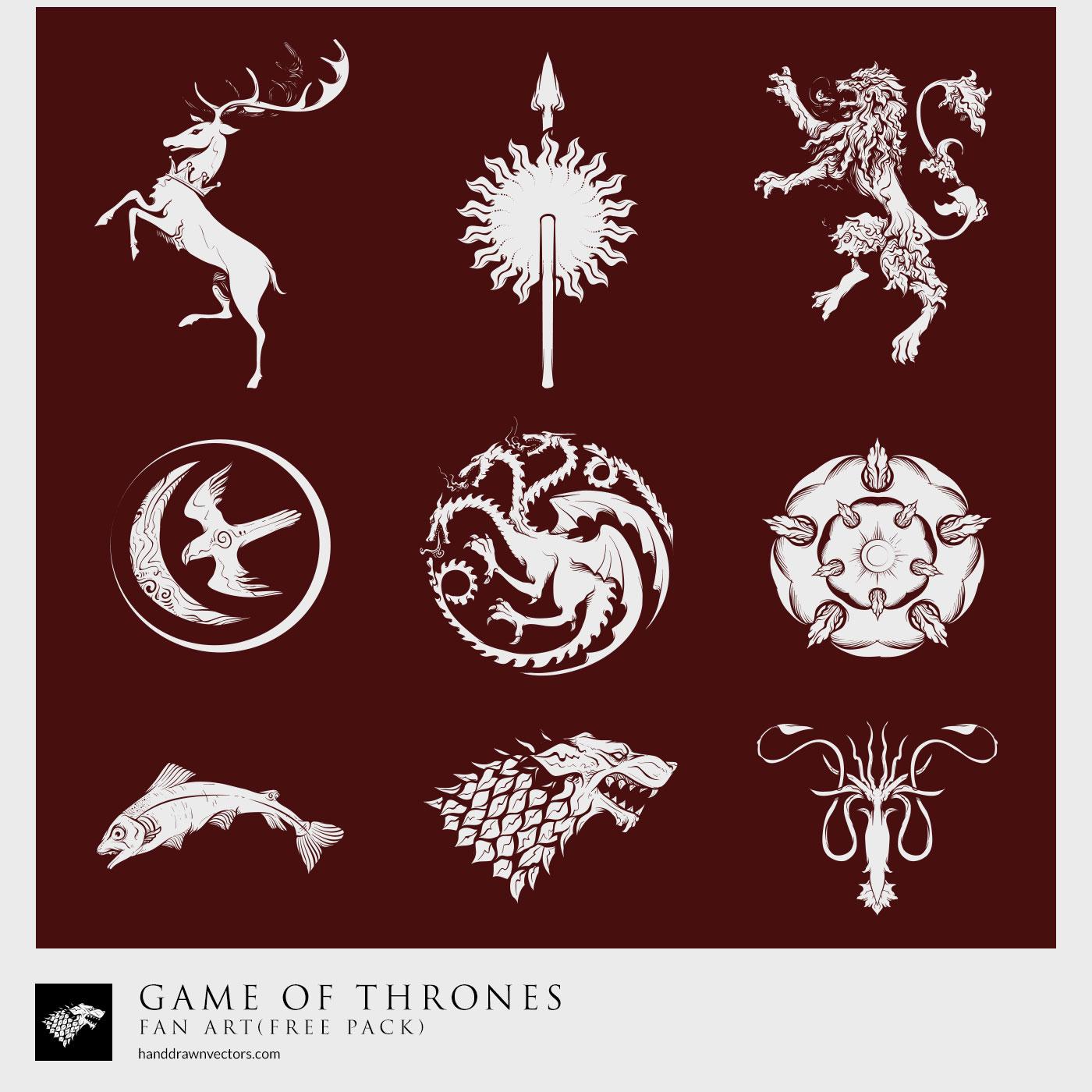 1400x1400 Game Of Thrones Fan Art 23 Vectors