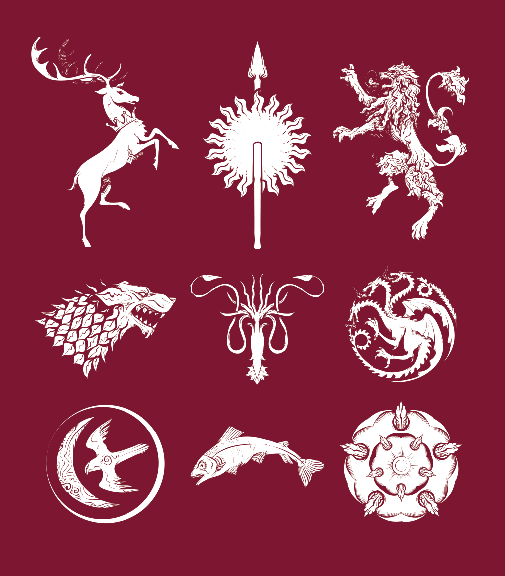 1014x1156 Game Of Thrones Sigil Pack