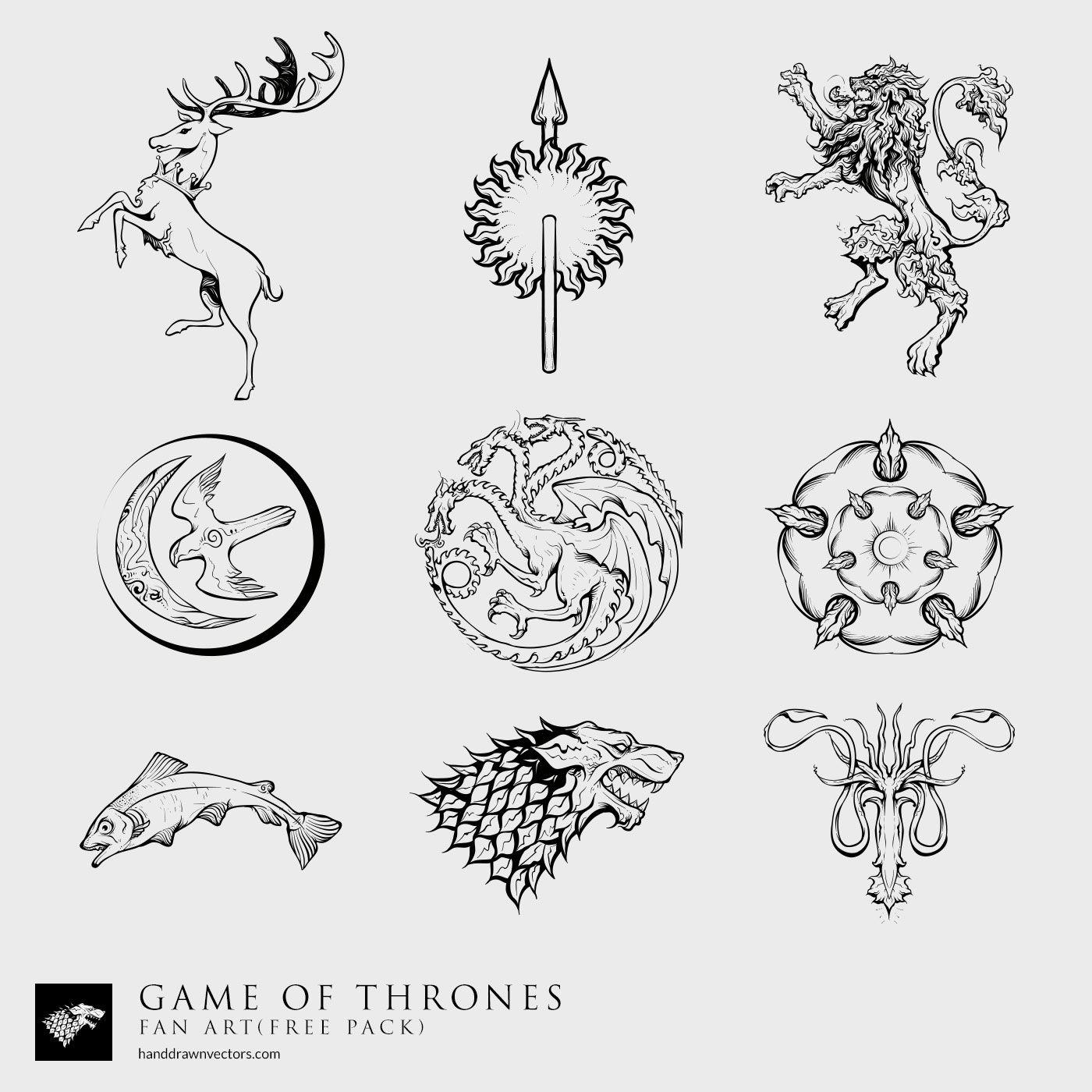 1400x1400 Game Of Thrones 38 Vectors Tattoos ) Vector