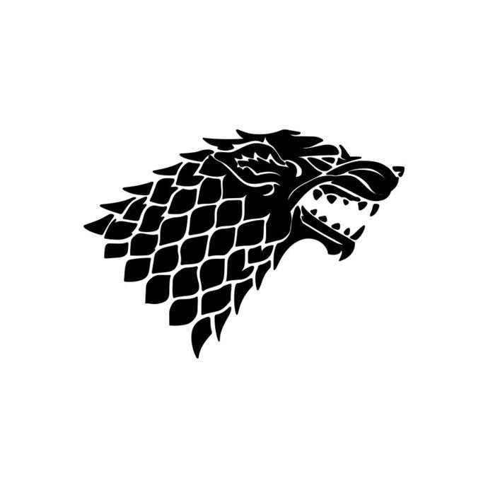 690x690 Direwolf House Stark Game Of Thrones Graphics By Vectordesign
