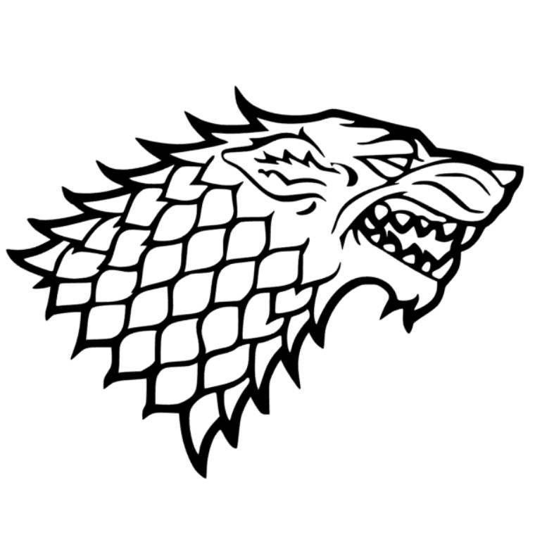 760x763 Stark Game Of Thrones Vector