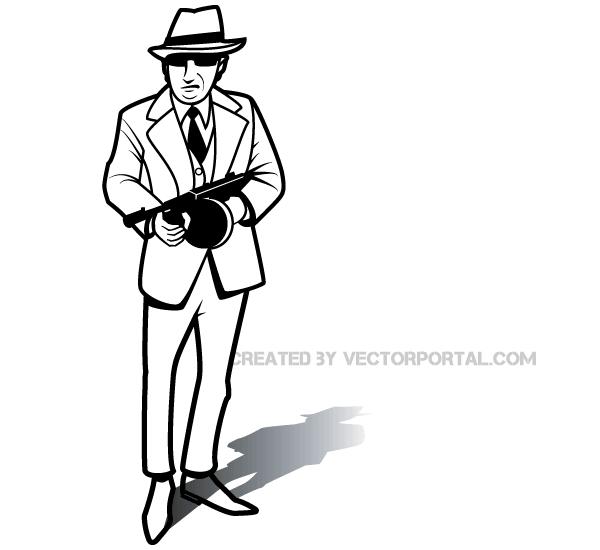 600x550 Gangster Vector Art 123freevectors