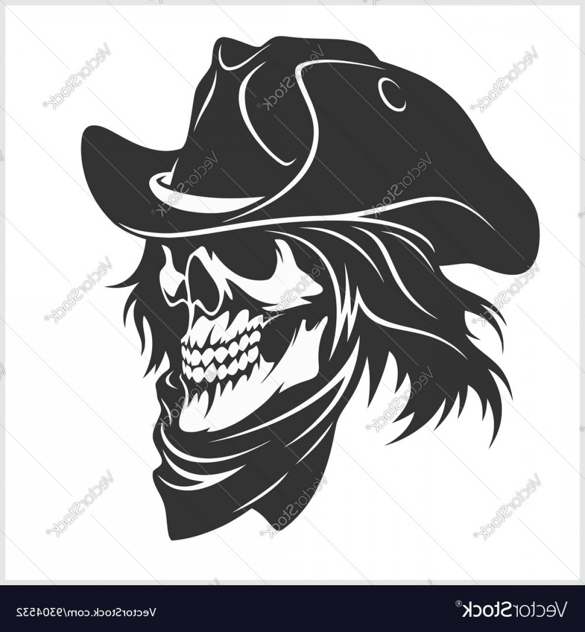 1200x1296 Skull In Hat Gangster Vector Rongholland