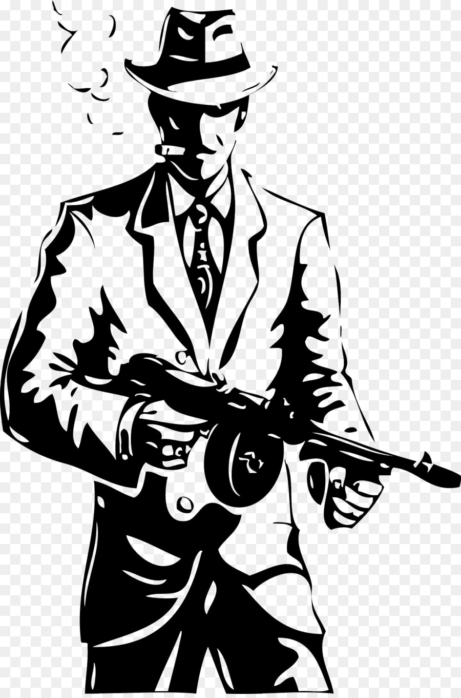 900x1360 Vector Graphics Drawing Gangster Illustration Image