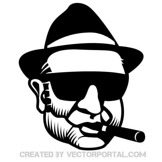 660x660 Gangster Vector Portrait