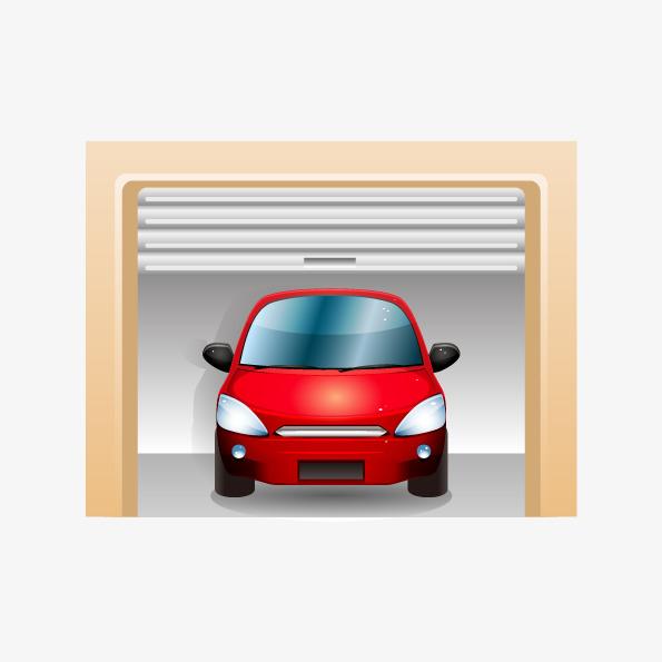 595x595 Vector Car Garage Schematic, Car Vector, Car Garage, Vector Car