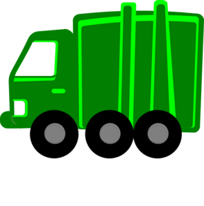 294x298 Lime Green Garbage Truck Clip Art