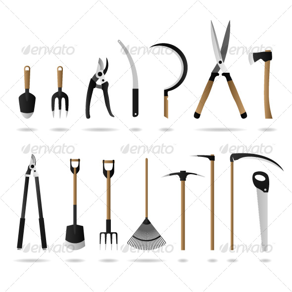 590x590 Gardening Tool Equipment Vector By Leremy Graphicriver