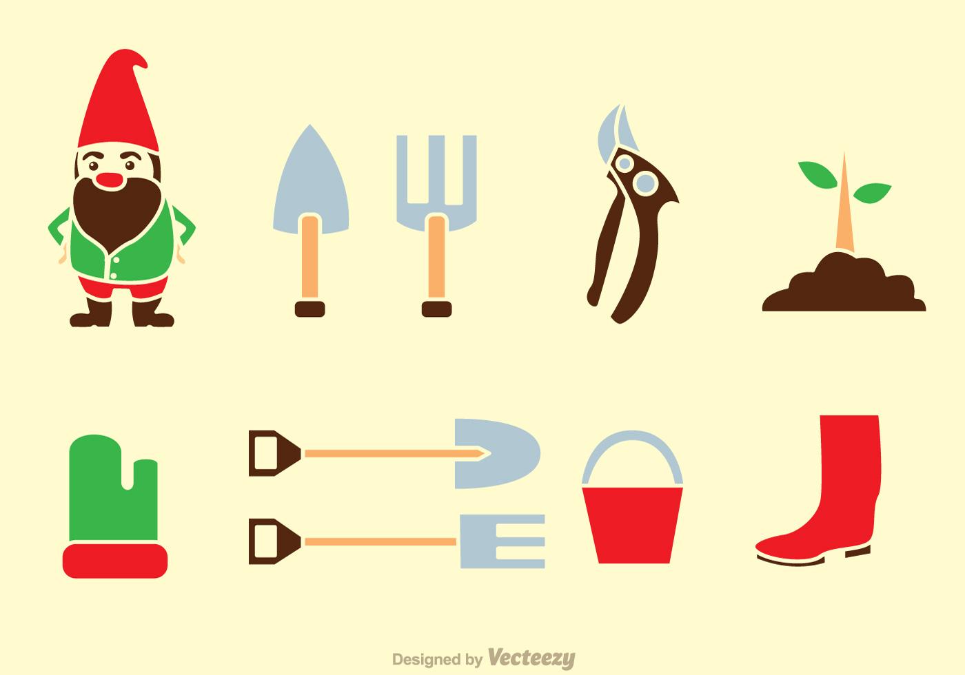 1400x980 Gardening Tools Icons