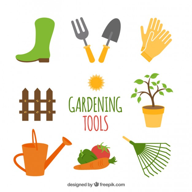 626x625 Gardening Tools Vector Free Download