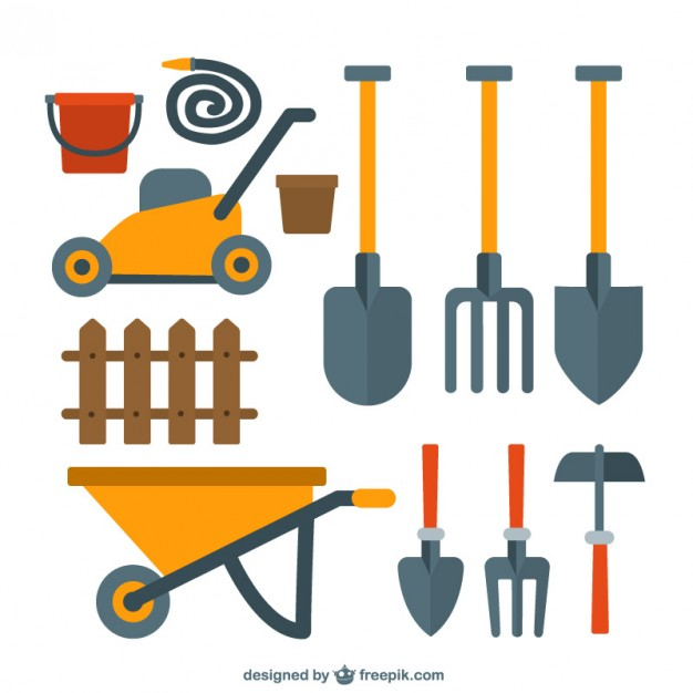 626x626 Nice Garden Tools Collection Vector Free Download