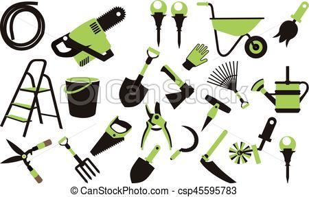 450x287 Set Of Garden Tools. Vector Illustration Set Of Icons Of Garden