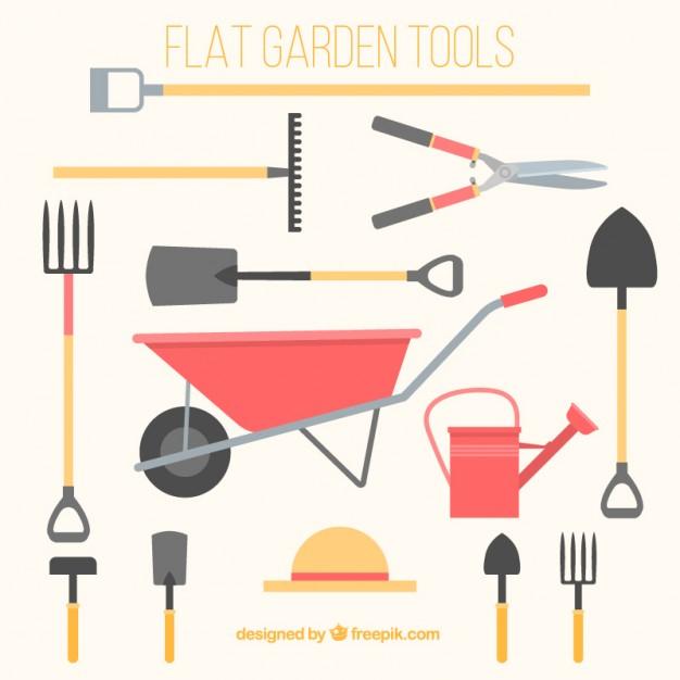 626x626 Flat Gardening Tools Vector Free Download