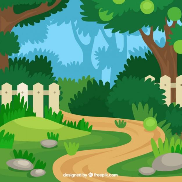 626x626 Flat Garden Path Design Vector Free Download