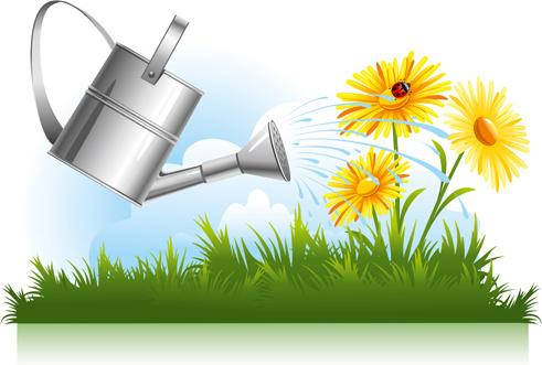 491x331 Flower Garden Free Vector Download (10,934 Free Vector) For