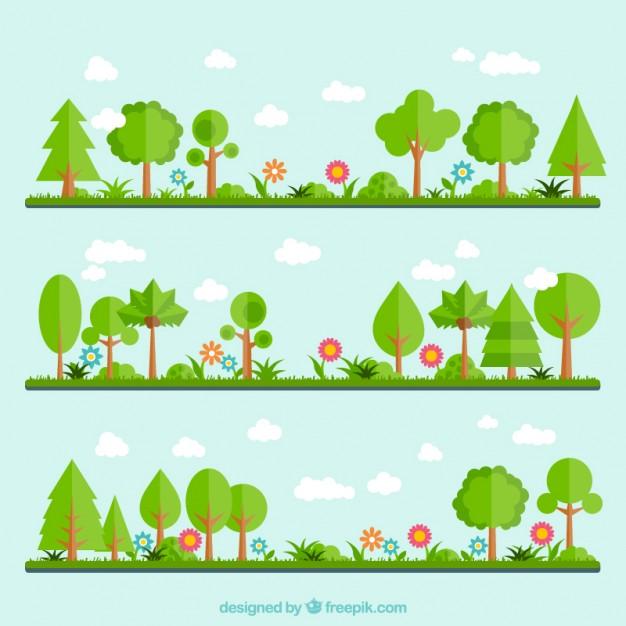 626x626 Green Garden Vector Premium Download