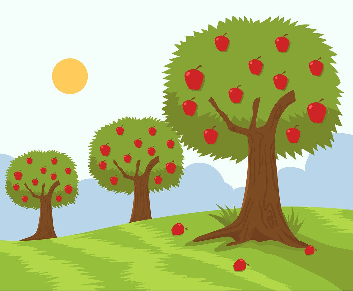 1136x936 Apple Tree Garden Vector Vector Art Amp Graphics