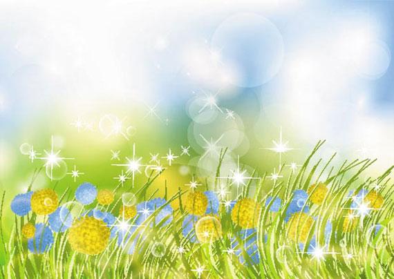 570x404 Beautiful Flower Garden Vector Background