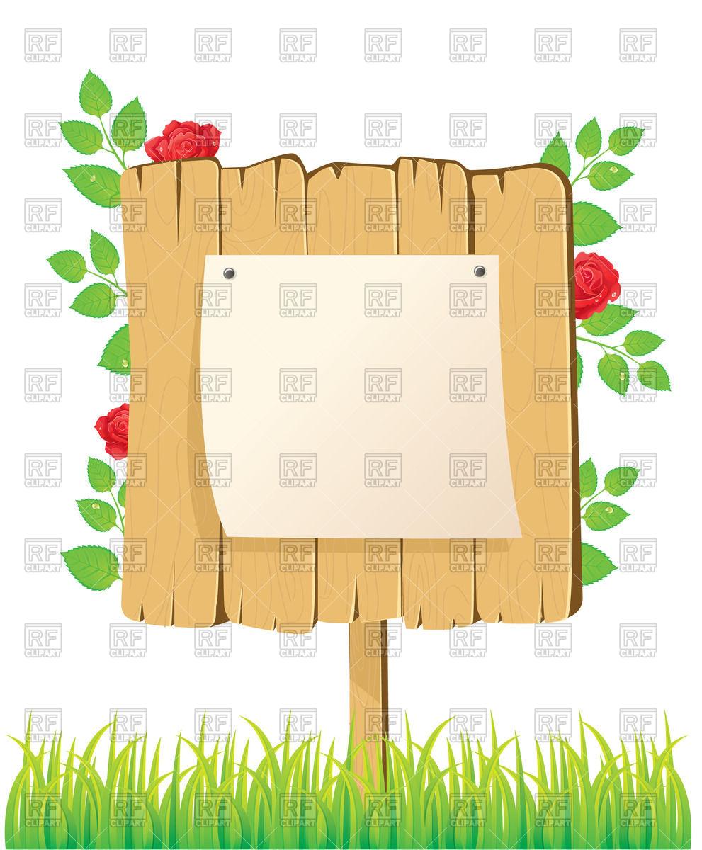 991x1200 Bulletin Board In The Garden Vector Image Vector Artwork Of
