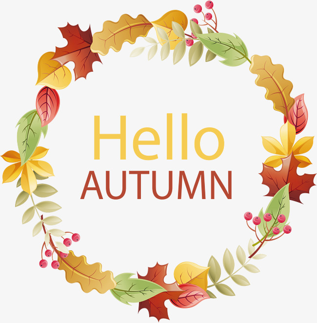 650x662 Hello, Fall Garland, Vector Png, Maple Leaves, Fallen Leaves Png