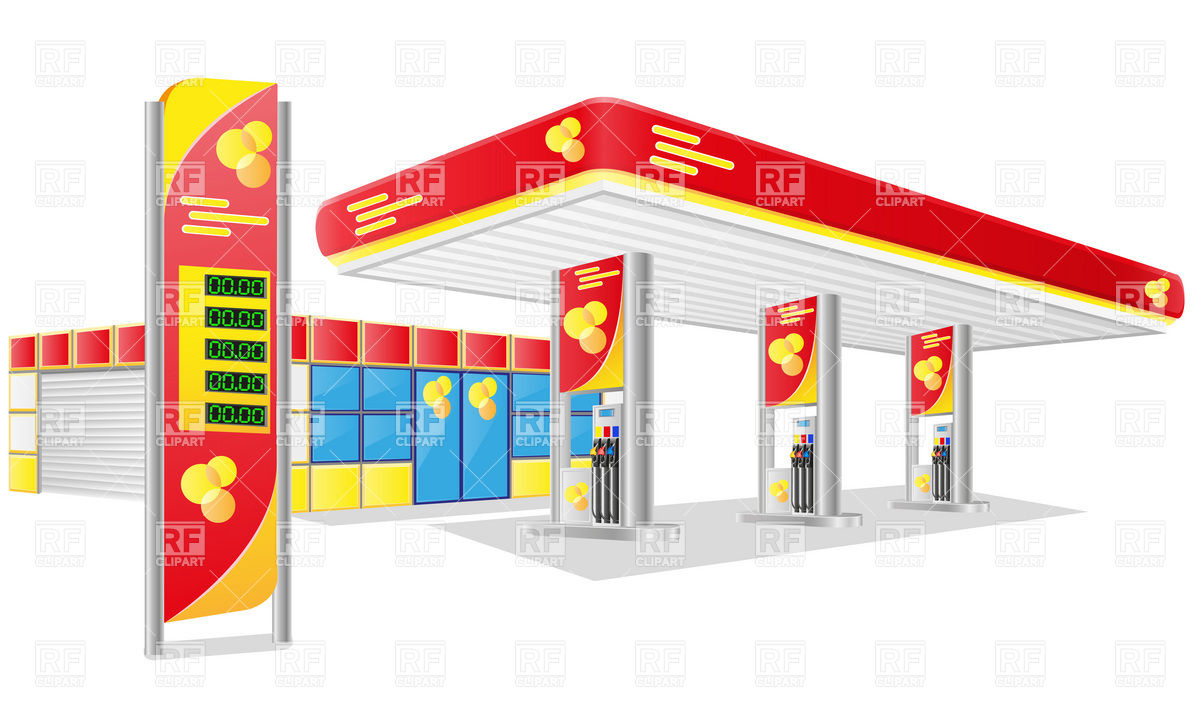 1200x720 Gas Service Station Vector Image Vector Artwork Of