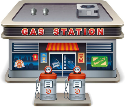 432x368 Gas Station Free Vector Download (281 Free Vector) For Commercial