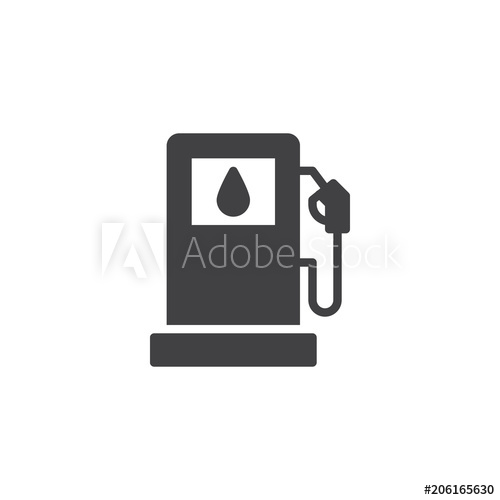 500x500 Gas Station Vector Icon. Filled Flat Sign For Mobile Concept And
