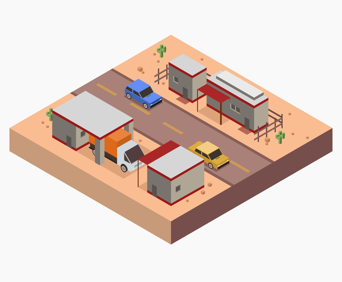 1136x936 Isometric Gas Station Vector Vector Art Amp Graphics