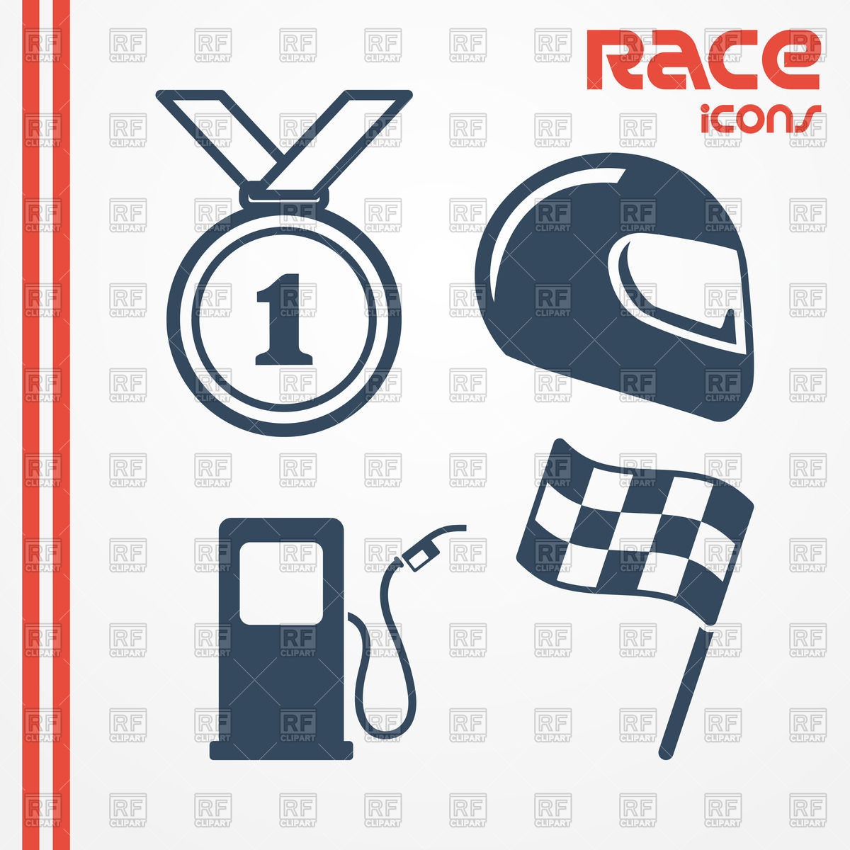 1200x1200 Simple Flat Racing Icons