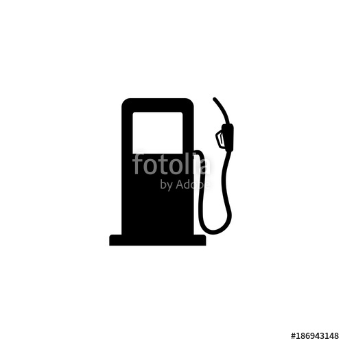 500x500 Gas Station Vector Icon Stock Image And Royalty Free Vector Files