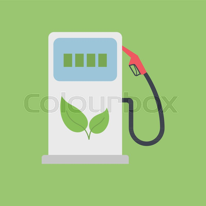 800x800 Biofuel Gas Station Vector Icon