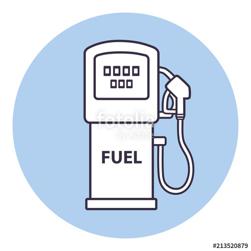 500x500 Fuel Pump. Gas Station Vector Icon. Stock Image And Royalty Free
