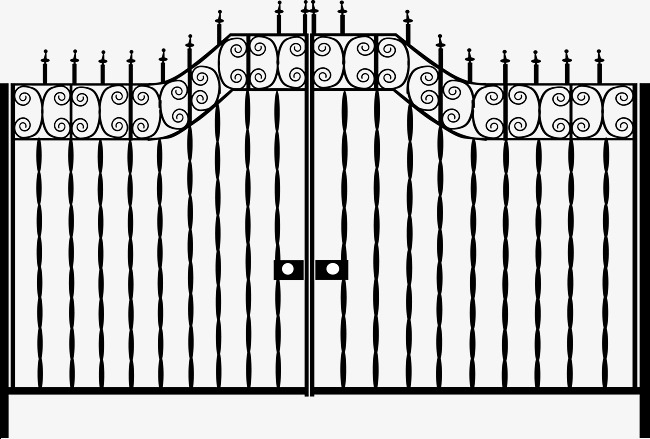 650x439 European Pattern Iron Gate Diagram, Pattern Vector, The Iron Gate