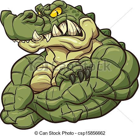 450x437 Alligator Mascot. Angry Alligator Mascot. Vector Clip Art