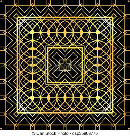 450x470 Seamless Luxurious Gold Vintage Texture Gatsby Style. Vector