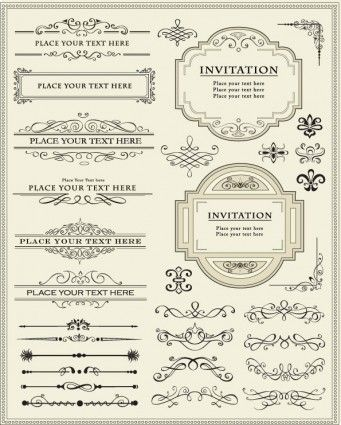 341x425 Europeanstyle Lace Border 01 Vector Elements For A Gatsby Style