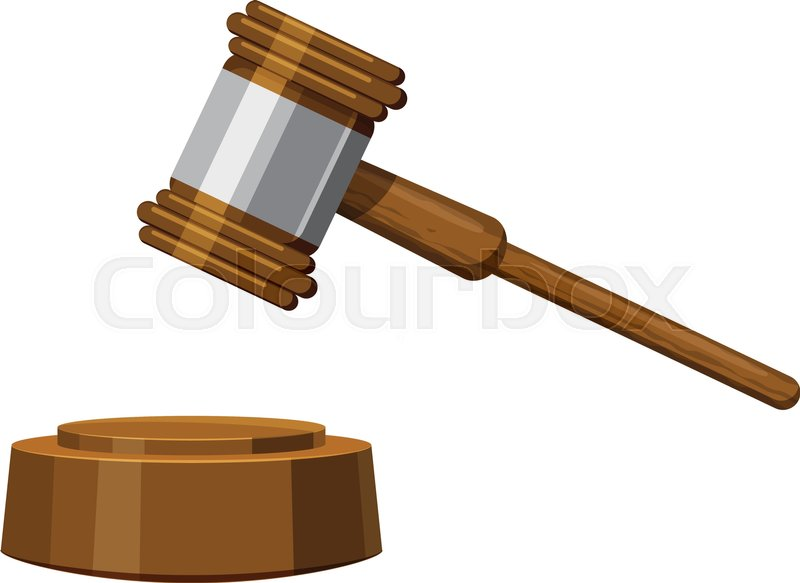 800x583 Gavel Icon. Cartoon Illustration Of Gavel Vector Icon For Web