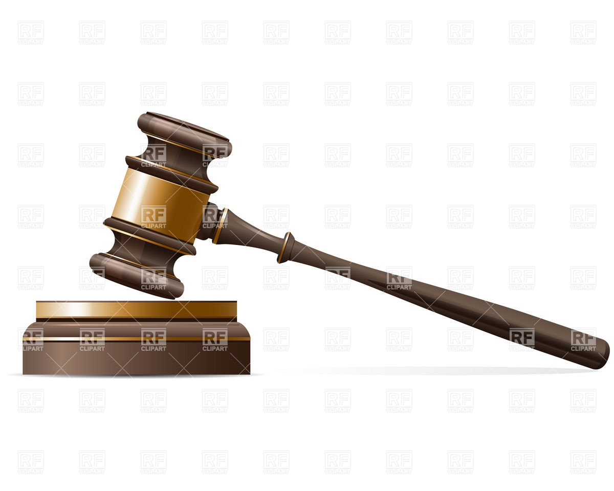 1200x960 Judge Gavel And Sound Block Vector Image Vector Artwork Of