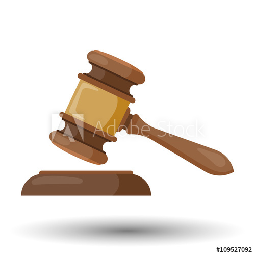 500x500 Judge Gavel Vector Colorful Icon