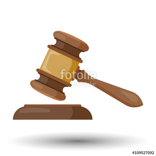500x500 Judge Gavel Vector Colorful Icon Stock Image And Royalty Free