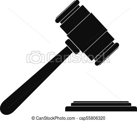 450x395 Auction Gavel Icon, Simple Style. Auction Gavel Icon. Simple