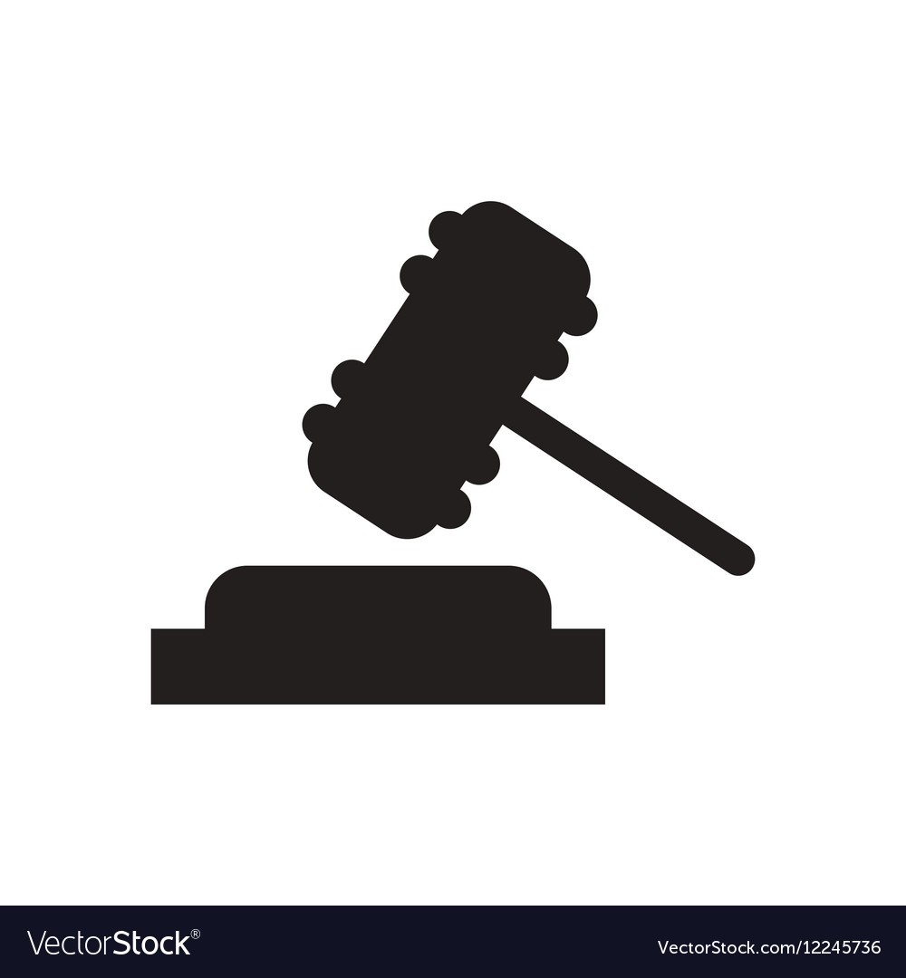 1000x1080 Flat Icon In Black And White Gavel Vector 12245736 6