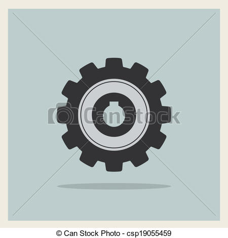 450x470 Technology Mechanical Gear Icon Vector. Technology Mechanical Gear