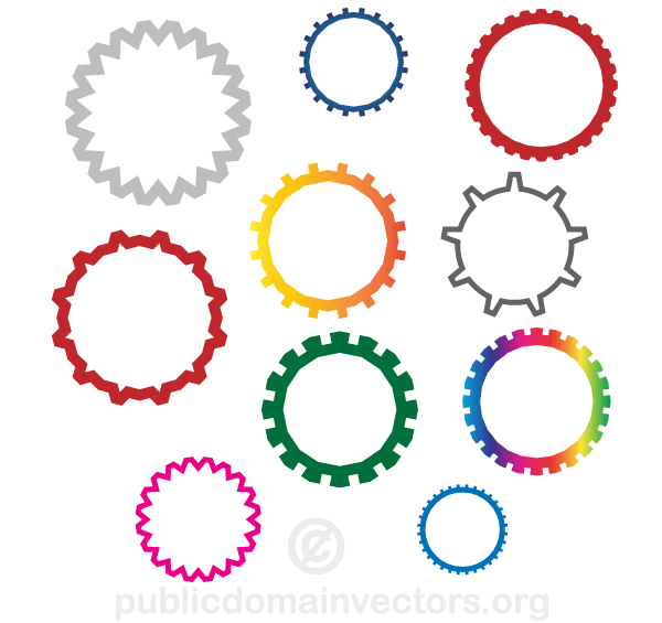 600x565 Gear Wheels Vector Free Download 123freevectors