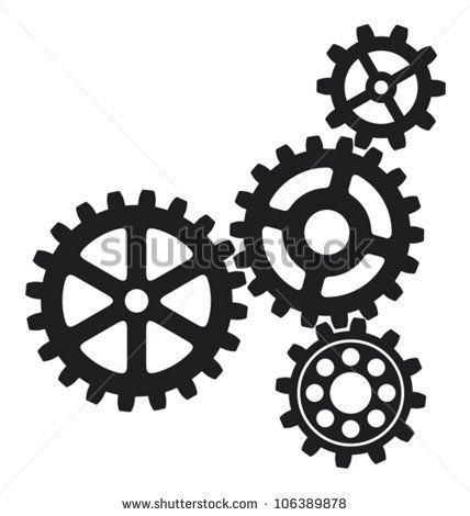 428x470 Gears Vector Traditional Chandelier Silhouette Vector Free